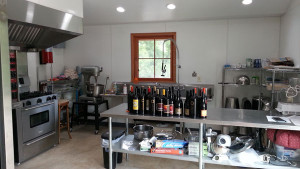 the commercial kitchen on the farm