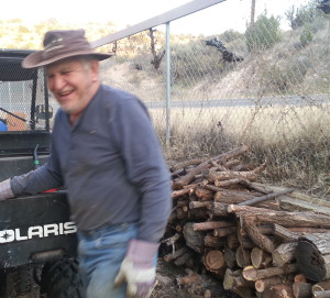 My neighbor Al and the wood he cut for me