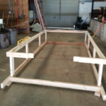 the frame of my chicken tractor