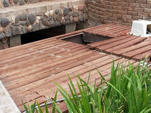 the bridge where the waterwheels will go one day