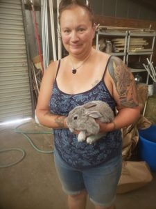 Christina and baby bunny